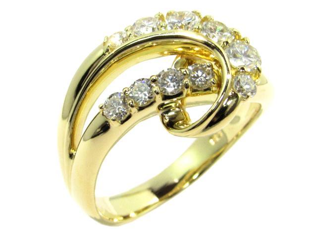 【中古】ジュエリー ダイヤモンドリング レディース K18YG(750) イエローゴールド×ダイヤモンド1.00ct ゴールド | JEWELRY リング ブランドオフ BRANDOFF 美品 ボーナス