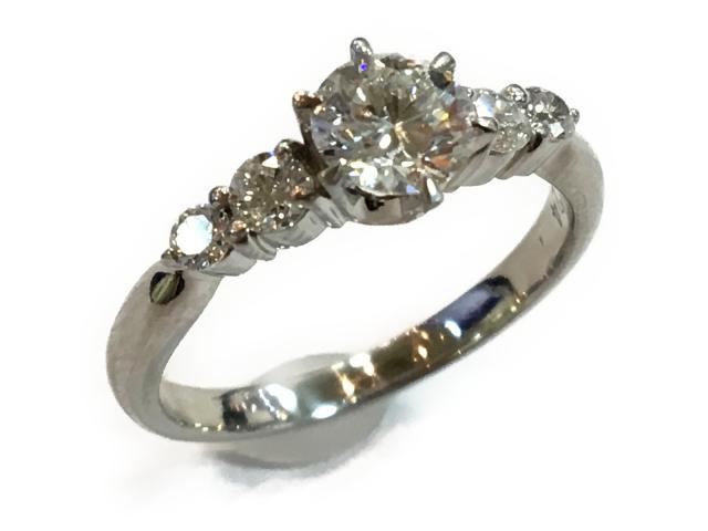 【中古】ジュエリー ダイヤモンドリング 指輪 レディース PT900 プラチナxダイヤモンド0.532ctx0.24ct クリアー | JEWELRY リング ブランドオフ BRANDOFF 美品 ボーナス