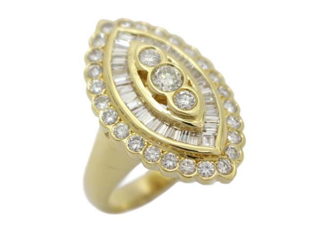 【中古】ジュエリー ダイヤモンド リング 指輪 ユニセックス K18YG(750) イエローゴールド×ダイヤモンド(2.42ct)   JEWELRY リング ブランドオフ BRANDOFF 美品 ボーナス