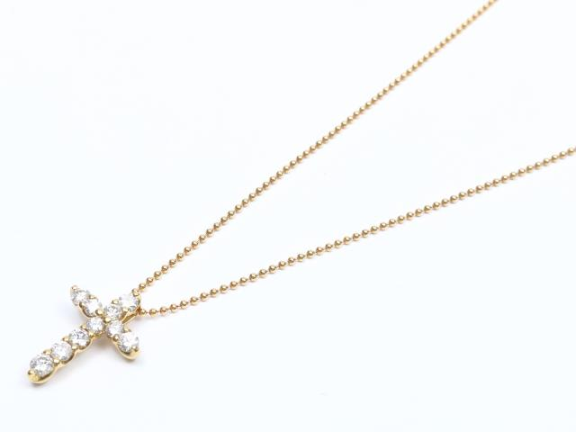 【中古】ジュエリー ダイヤモンド ネックレス レディース K18YG(750) イエローゴールド x ダイヤモンド(0.50ct) | JEWELRY ネックレス ブランドオフ BRANDOFF 美品 ボーナス