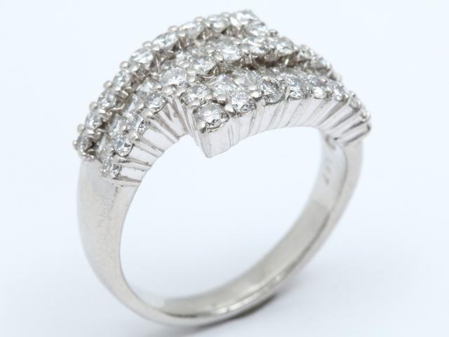 【中古】ジュエリー ダイヤモンド リング 指輪 レディース PT900 プラチナ x ダイヤモンド (1.47ct) | JEWELRY リング ブランドオフ BRANDOFF 美品 ボーナス