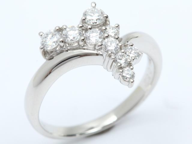 【中古】ジュエリー ダイヤモンド リング 指輪 レディース PT900 プラチナ x ダイヤモンド (0.52ct) | JEWELRY リング ブランドオフ BRANDOFF 美品 ボーナス