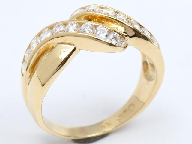 【中古】ジュエリー ダイヤモンド リング 指輪 レディース K18YG(750) イエローゴールド x ダイヤモンド(0.62ct)   JEWELRY リング ブランドオフ BRANDOFF 美品 ボーナス