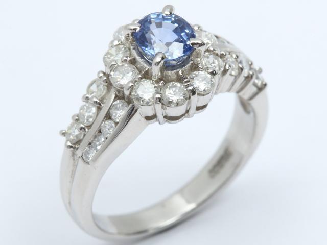 【中古】ジュエリー サファイア ダイヤモンド リング 指輪 レディース PT900 プラチナ x サファイア (0.89ct) x ダイヤモンド (0.87ct) | JEWELRY リング ブランドオフ BRANDOFF 美品 ボーナス