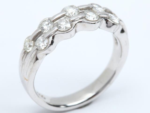 【中古】ジュエリー ダイヤモンド リング 指輪 レディース PT900 プラチナ x ダイヤモンド(0.72ct) | JEWELRY リング ブランドオフ BRANDOFF ボーナス