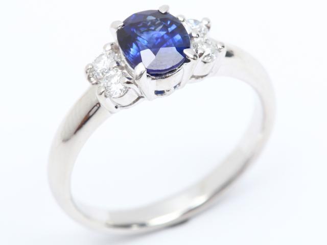 【中古】ジュエリー サファイア ダイヤモンド リング 指輪 レディース PT900 プラチナ x サファイア (1.09ct) x ダイヤモンド (0.20ct) | JEWELRY リング ブランドオフ BRANDOFF 美品 ボーナス