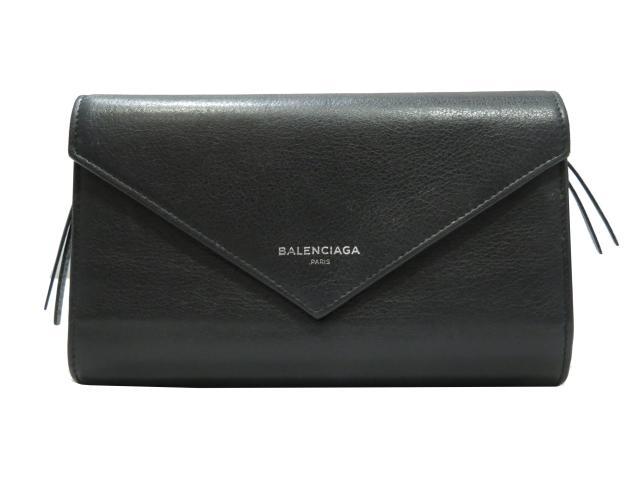 【中古】バレンシアガ ペーパー長財布 メンズ レディース レザー ブラック (371661) | BALENCIAGA 長財布 財布 ブランド ブランドオフ BRANDOFF