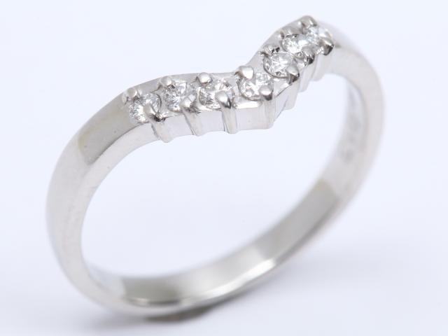 【中古】ジュエリー ダイヤモンド リング 指輪 レディース PT900 プラチナ x ダイヤモンド(0.13ct) | JEWELRY リング ブランドオフ BRANDOFF 美品 ボーナス