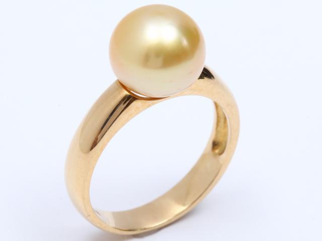【中古】ジュエリー パール ダイヤモンド リング 指輪 レディース K18YG(750) イエローゴールド x パール x ダイヤモンド   ブランドオフ BRANDOFF ボーナス