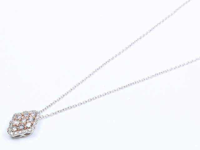 【中古】ジュエリー ダイヤモンド ネックレス レディース PT900 プラチナ x ダイヤモンド(0.50ct) | JEWELRY ネックレス ブランドオフ BRANDOFF 美品 ボーナス