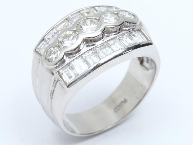 【中古】ジュエリー ダイヤモンド リング 指輪 レディース PT900 プラチナ x ダイヤモンド(2.00ct) | JEWELRY リング ブランドオフ BRANDOFF 美品 ボーナス