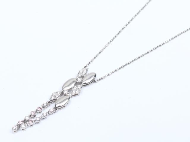 【中古】ジュエリー ダイヤモンド ネックレス レディース PT900 プラチナ x ダイヤモンド(0.41ct) | JEWELRY ネックレス ブランドオフ BRANDOFF 美品 ボーナス