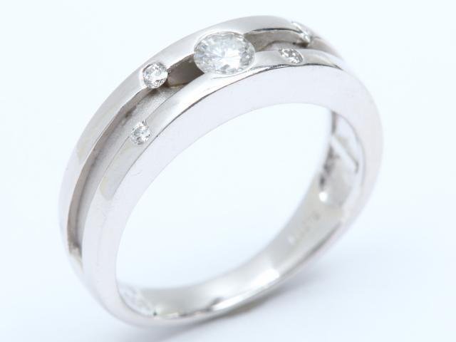【中古】ジュエリー ダイヤモンド リング 指輪 レディース PT900 プラチナ x ダイヤモンド(0.18ct/0.08ct)   JEWELRY リング ブランドオフ BRANDOFF 美品 ボーナス