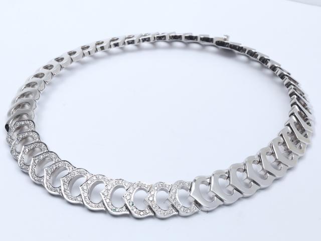 【中古】ジュエリー ダイヤモンド ネックレス レディース K18WG(750) ホワイトゴールド x ダイヤモンド | JEWELRY ネックレス ブランドオフ BRANDOFF 美品 ボーナス
