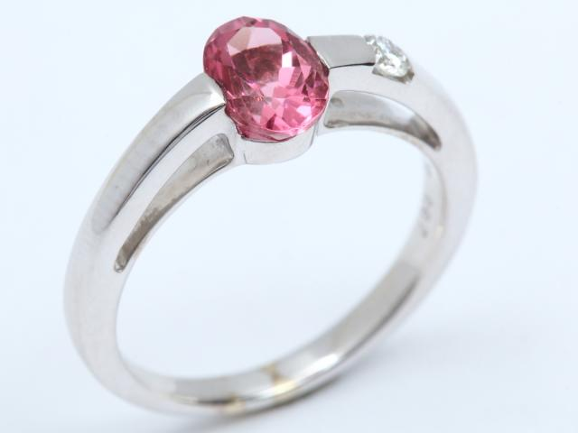 【中古】ジュエリー トルマリン ダイヤモンド リング 指輪 レディース K18WG(750) ホワイトゴールド x トルマリン(0.70ct) x ダイヤモンド(0.07ct) | JEWELRY リング ブランドオフ BRANDOFF 美品 ボーナス