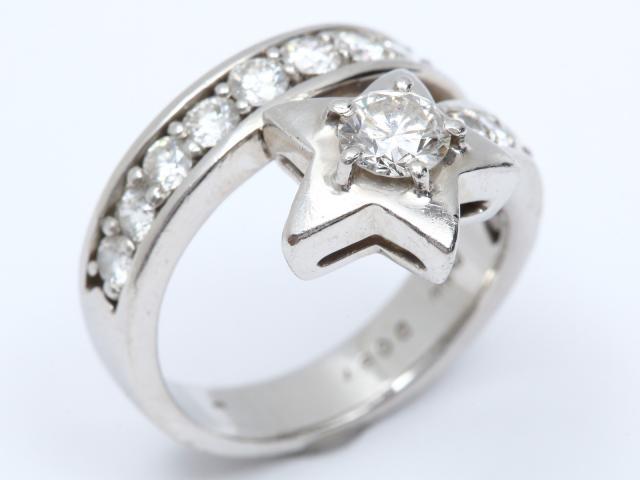 【中古】【送料無料】ジュエリー ダイヤモンド リング 指輪 レディース PT900 プラチナ x ダイヤモンド(0.428ct/0.87ct) | JEWELRY リング美品 ブランドオフ 美品 BRANDOFF ボーナス
