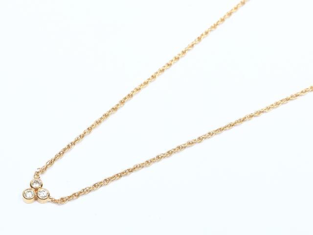 【中古】ジュエリー ダイヤモンド ネックレス レディース K18YG(750) イエローゴールド x ダイヤモンド | JEWELRY ネックレス ブランドオフ BRANDOFF 美品 ボーナス
