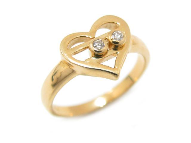 ジュエリー ダイヤモンド リング 指輪 レディース K18YG(750) イエローゴールド x ダイヤモンド (0.04ct) | JEWELRY リング ブランドオフ BRANDOFF ボーナス