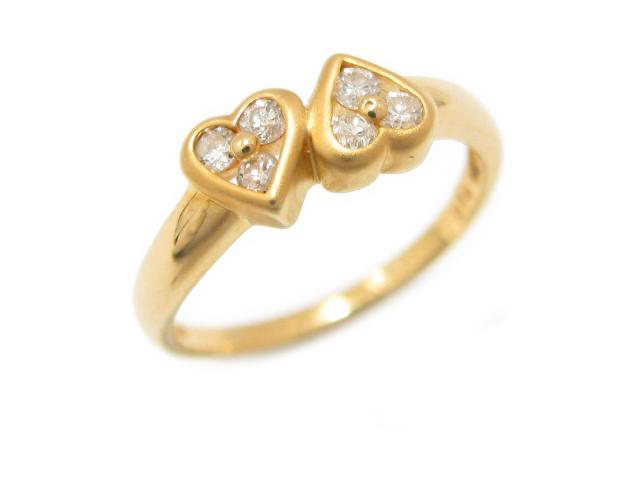 ジュエリー ダイヤモンド リング 指輪 レディース K18YG(750) イエローゴールド x ダイヤモンド (0.18ct) | JEWELRY リング ブランドオフ BRANDOFF ボーナス