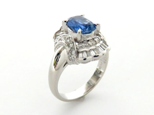 【中古】ジュエリー サファイヤ/ダイヤモンドリング 指輪 レディース PT900 プラチナサファイヤ1.28ct/ダイヤモンド0.65ct | JEWELRY リング ブランドオフ BRANDOFF 美品 ボーナス
