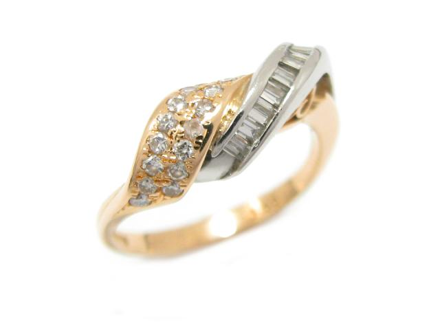 【中古】ジュエリー ダイヤモンド リング 指輪 ユニセックス K18YG(750) イエローゴールド x ダイヤモンド (0.30ct) | JEWELRY リング ブランドオフ BRANDOFF 美品 ボーナス