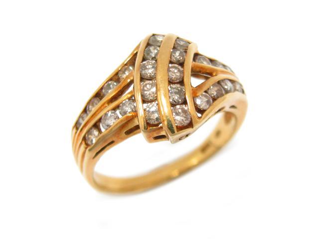 【中古】ジュエリー ダイヤモンド リング 指輪 ユニセックス K18YG(750) イエローゴールド x ダイヤモンド (0.81ct) | JEWELRY リング ブランドオフ BRANDOFF ボーナス