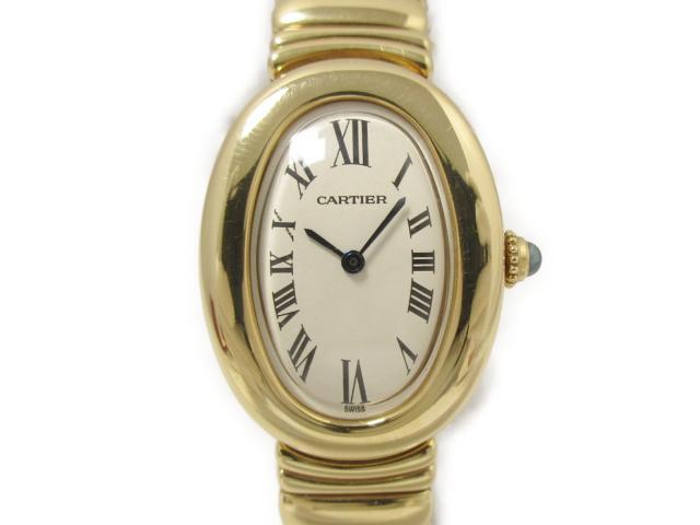 【中古】【送料無料】カルティエ ベニュワール 腕時計 ウォッチ レディース K18YG(750)イエローゴールド (W15045D8) | Cartier クオーツ WATCH 美品 ブランド ブランドオフ BRANDOFF