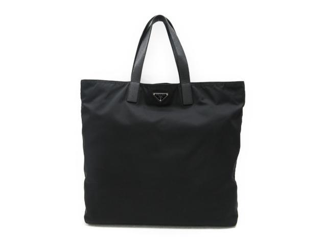【中古】プラダ トートバッグ メンズ レディース ナイロン x レザー ブラック | PRADA ショルダーバッグ ショルダー 肩掛け バッグ バック BAG 鞄 カバン ブランドバッグ ブランド ブランドオフ BRANDOFF