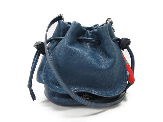 【中古】コーチ ショルダーバッグ レディース レザー ブルー (F57543)   COACH ショルダー 肩掛け バッグ バック BAG 鞄 カバン ブランドバッグ ブランド ブランドオフ BRANDOFF