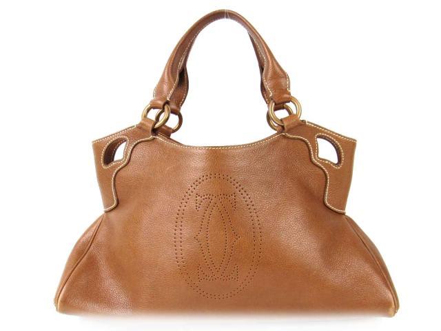 【中古】【送料無料】カルティエ マストライン ハンドバッグ レディース レザー ブラウン | Cartier ハンドバッグ バッグ バック BAG 鞄 カバン ブランドバッグ 美品 ブランド ブランドオフ BRANDOFF