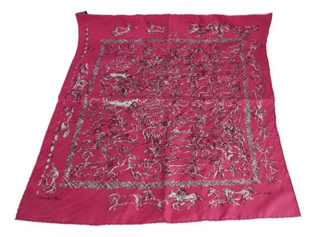 【中古】エルメス カレ55 スカーフ レディース シルク ピンク | HERMES スカーフ カレ55 美品 ブランド ブランドオフ BRANDOFF