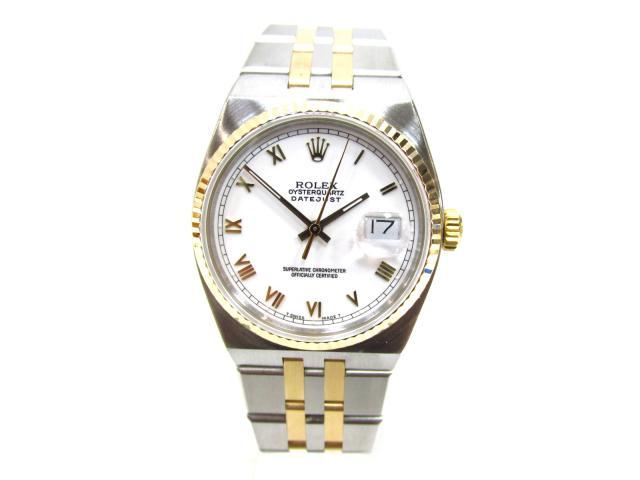 【中古】【送料無料】ロレックス デイトジャスト 腕時計 メンズ K18YG(750)イエローゴールド x ステンレススチール シルバー x ゴールド   ROLEX クオーツ WATCH ブランド ブランドオフ BRANDOFF