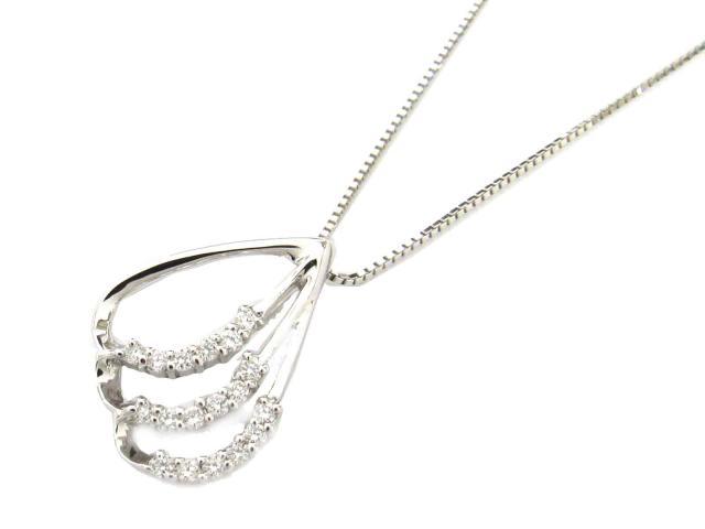 【送料無料】ジュエリー ダイヤモンド ネックレス レディース K18WG(750) ホワイトゴールド x ダイヤモンド(0.14ct) | JEWELRY ネックレス新品 ブランドオフ BRANDOFF ボーナス