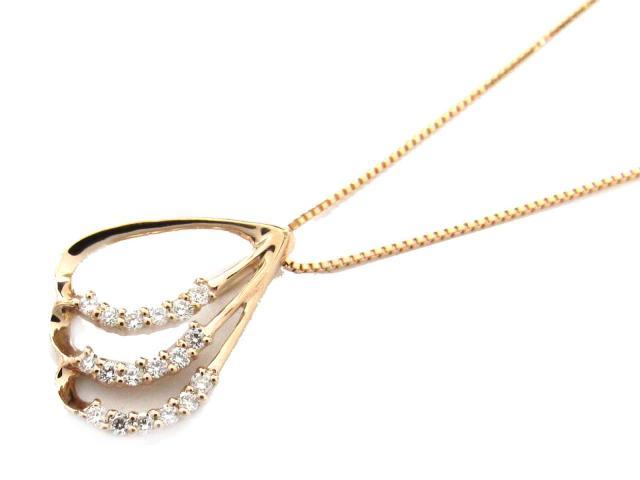 【送料無料】ジュエリー ダイヤモンド ネックレス レディース K18PG(750) ピンクゴールド x ダイヤモンド(0.14ct) | JEWELRY ネックレス新品 ブランドオフ BRANDOFF ボーナス