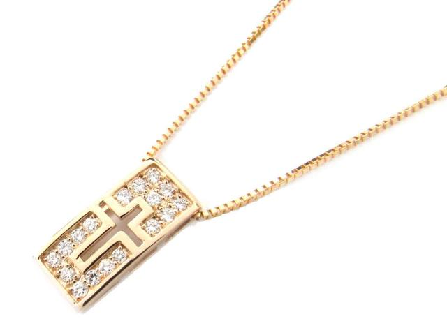 【送料無料】ジュエリー ダイヤモンド ネックレス レディース K18PG(750) ピンクゴールド x ダイヤモンド(0.23ct) | JEWELRY ネックレス新品 ブランドオフ BRANDOFF ボーナス
