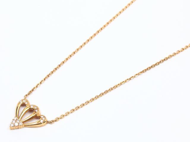 【中古】【送料無料】ジュエリー ダイヤモンド ネックレス レディース K18YG(750) イエローゴールド x ダイヤモンド   JEWELRY ネックレス美品 ブランドオフ 美品 BRANDOFF ボーナス