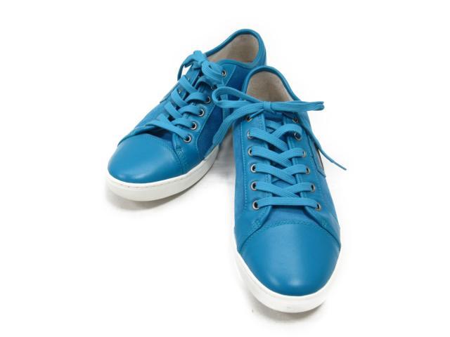 【中古】ドルチェ&ガッバーナ スニーカー メンズ レザー x スエード ブルー | DOLCE & GABBANA くつ 靴 シューズ 美品 ブランド ブランドオフ BRANDOFF