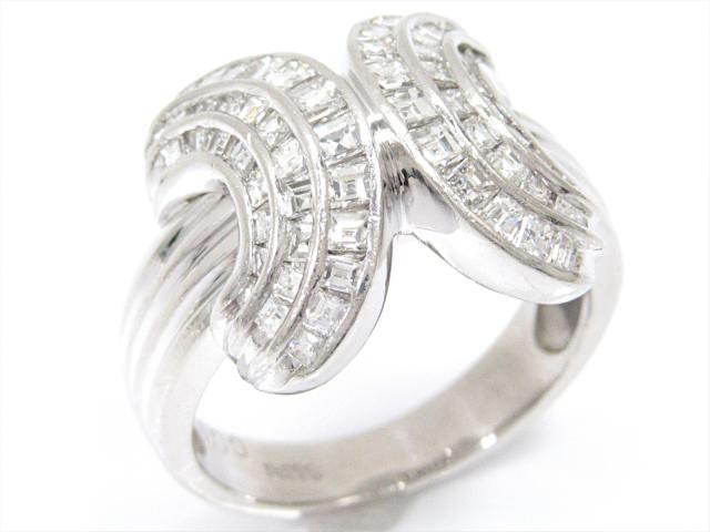 【中古】ジュエリー ダイヤモンドリング 指輪 レディース PT900 プラチナxダイヤモンド(1.00ct) | ブランドオフ BRANDOFF ボーナス