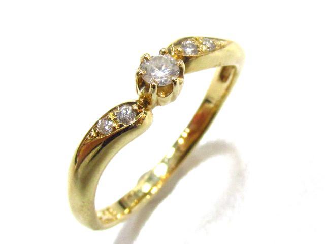 【中古】ジュエリー ダイヤモンド リング レディース K18YG(750) イエローゴールド×ダイヤモンド | JEWELRY リング美品 ブランドオフ 美品 BRANDOFF ボーナス