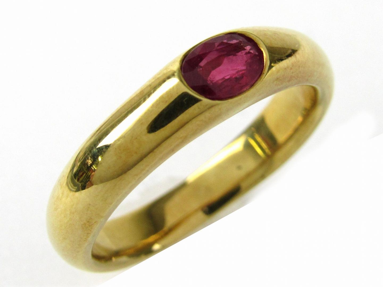 【中古】【送料無料】ジュエリー ルビー リング 指輪 メンズ レディース K18YG(750) イエローゴールドxルビー0.571ct | JEWELRY リング美品 ブランドオフ 美品 BRANDOFF ボーナス