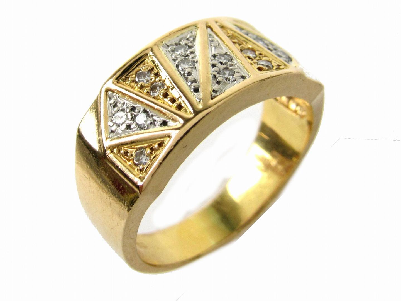 【中古】【送料無料】ジュエリーダイヤモンド リング 指輪 レディース K18YG(750) イエローゴールドxダイヤモンド0.14ctxPT900 | JEWELRY リング美品 ブランドオフ 美品 BRANDOFF ボーナス