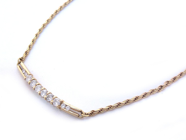 【中古】【送料無料】ジュエリー ダイヤモンド ネックレス レディース K18YG(750) イエローゴールド x ダイヤモンド(0.552ct/0.09ct) | JEWELRY ネックレス美品 ブランドオフ 美品 BRANDOFF ボーナス