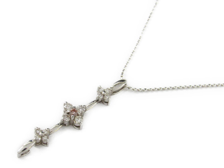 【中古】【送料無料】ジュエリー ダイヤモンド ネックレス レディース K18WG(750) ホワイトゴールド x ダイヤモンド0.30ct | JEWELRY ネックレス美品 ブランドオフ 美品 BRANDOFF ボーナス