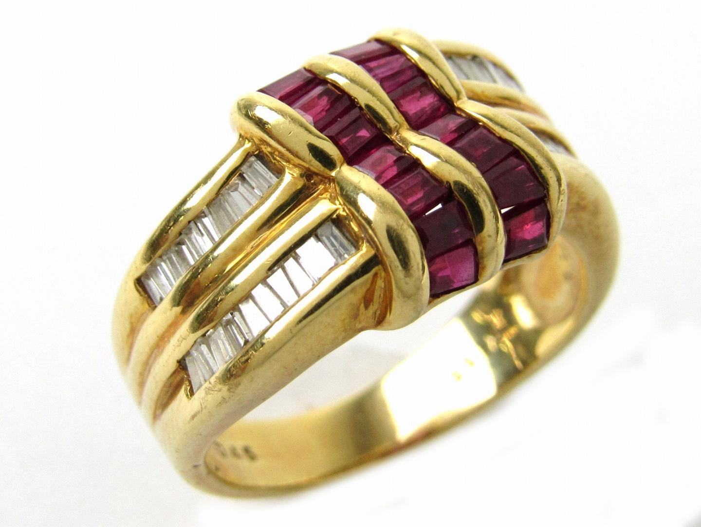 【中古】ジュエリー ルビー ダイヤモンド リング 指輪 レディース K18YG(750) イエローゴールドxルビー1.15/ダイヤモンド0.45ct | ブランドオフ BRANDOFF ボーナス