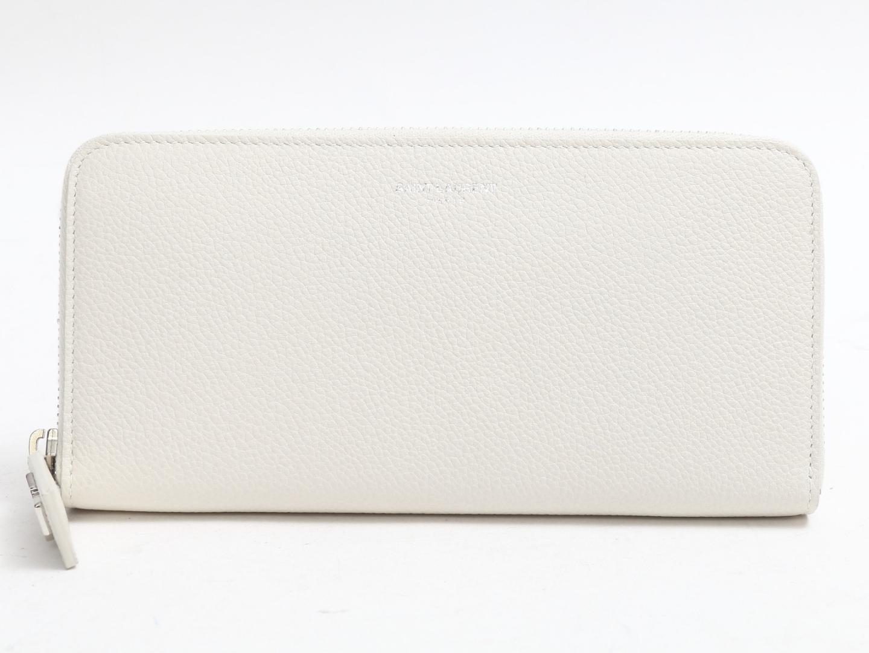 【中古】【送料無料】サン・ローラン ラウンドファスナー長財布 レディース レザー アイボリー (414680) | Saint Laurent 長財布 財布 ラウンド 美品 ブランド ブランドオフ BRANDOFF