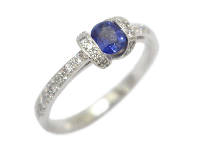 ジュエリー サファイア ダイヤモンド リング 指輪 レディース PT900 プラチナ×サファイア(0.36ct)×ダイヤモンド(0.21ct) | ブランドオフ BRANDOFF ボーナス