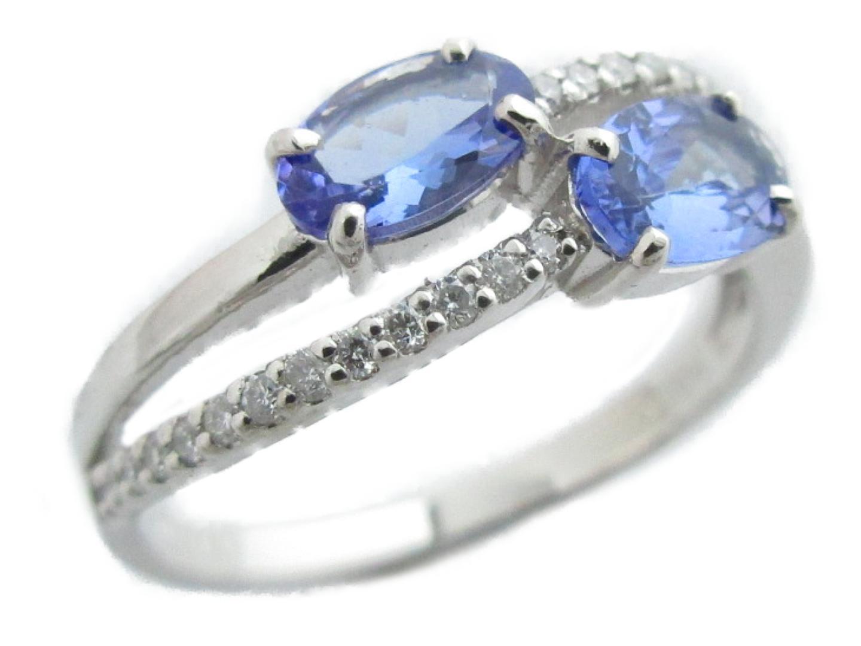 【送料無料】ジュエリー タンザナイト ダイヤモンド リング 指輪 レディース PT900 プラチナ×タンザナイト(0.82ct)×ダイヤモンド(0.14ct) | JEWELRY リング新品 ブランドオフ BRANDOFF ボーナス
