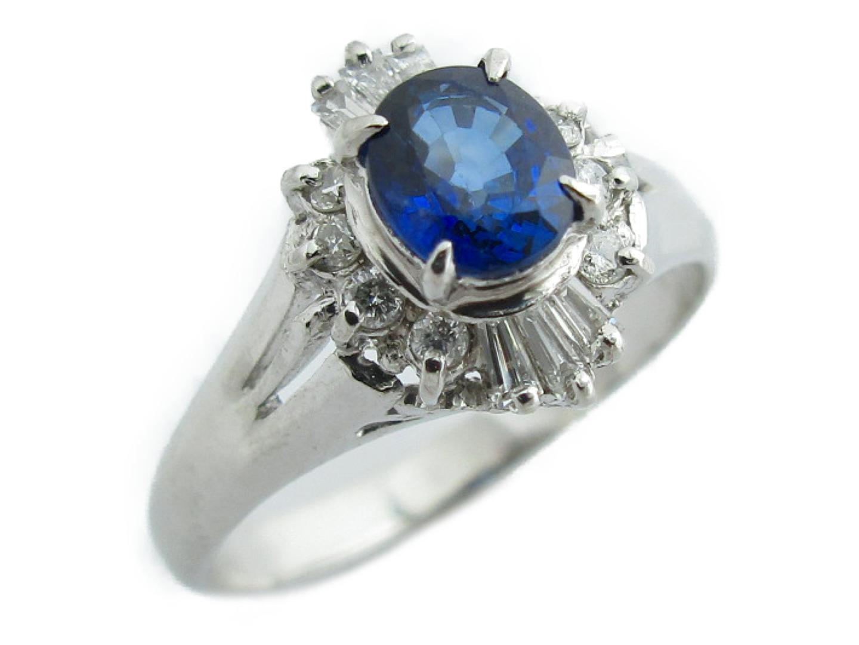 【中古】【送料無料】ジュエリー サファイア ダイヤモンド リング 指輪 レディース PT900 プラチナ×サファイア(0.57ct)×ダイヤモンド(0.17ct) | JEWELRY リング美品 ブランドオフ 美品 BRANDOFF ボーナス