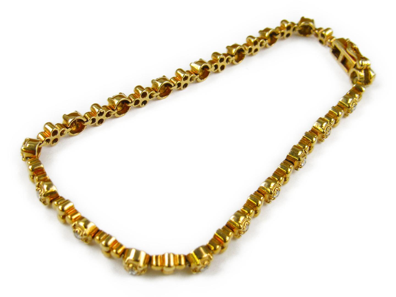 【中古】ジュエリー ダイヤモンド ブレスレット レディース K18YG(750) イエローゴールドxダイヤモンド0.387ct | ブランドオフ BRANDOFF ボーナス