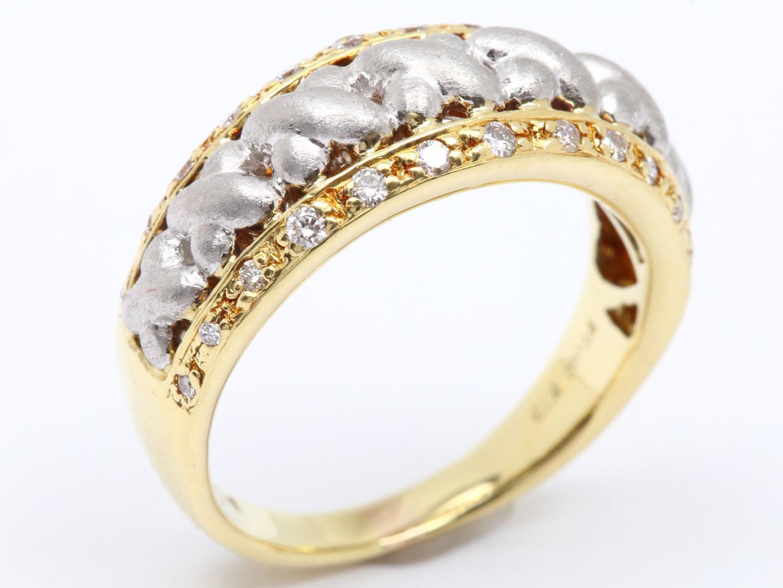 【中古】【送料無料】ジュエリー ダイヤモンド リング 指輪 レディース K18YG(750) イエローゴールド x Pt900 x ダイヤモンド(0.20ct) | JEWELRY リング美品 ブランドオフ 美品 BRANDOFF ボーナス